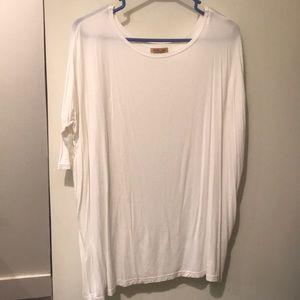 Piko white skirt sleeve top medium